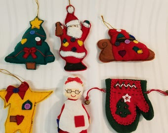 Santa & Mrs. Felt ornament collection