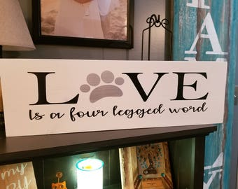 Wall Decor, Personalized Sign, Pet Decor, Wood Wall Decor, Home Decor,