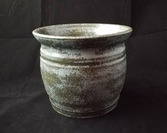 Antique Blue Stoneware Decorative Pot