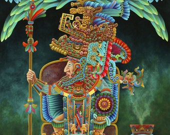 Aztec Chief // Giclee on Canvas