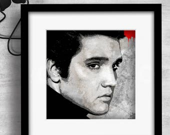 Print / Elvis / Art / Music / Graphic design / Design / Prints / Contemporary / Wall art / Cool / Icons / Gift