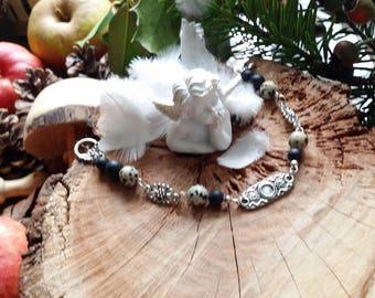 Shungite Bracelet by AngelS SignS Dalmatian Jasper
