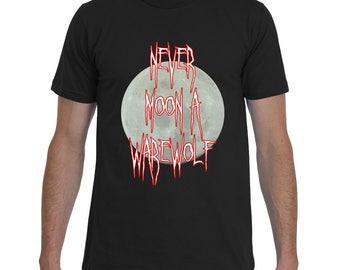 Never Moon a Warewolf | Funny Halloween T-Shirt | 4 Colors Available | Badass T-Shirt Co. Original