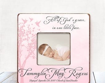 Baptism Gift GIRL Christening Gift GIRL Personalized Picture Frame Baptism Gift for Goddaughter Gift Goddaughter Baptism Gift Christening S2