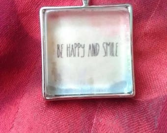 Be Happy and Smile necklace