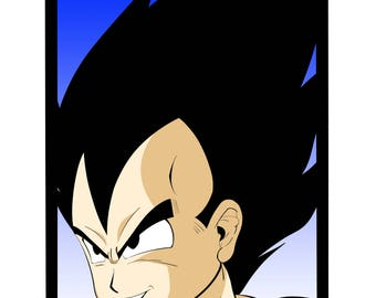 Vegeta Prince of all Saiyans - Dragon Ball Z 11x17 Print