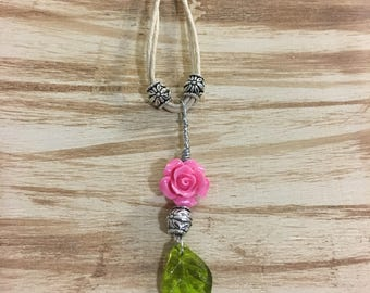 Long Rose Twine Necklace