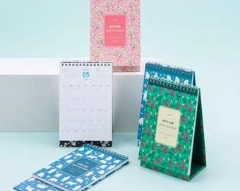 2018 DESK CALENDAR | Pattern Calendar | Cherry Blossom | Strawberry Calendar | Bear Calendar | Monthly Planner | Yearly Planner | Free Note