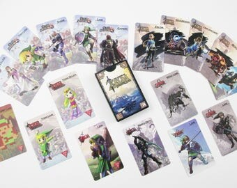 FAST FREE Shipping! Complete Set! All 18 Zelda NFC amiibo Cards & Case! + Full Page Color Guide on Card Stock! Majora's Mask Ocarina of Time