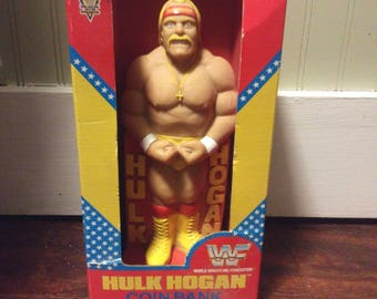 Hulk Hogan Vintage 1991 Rare Coin Bank NEW IN BOX