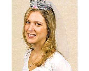 Hen Party  Tiara with Veil