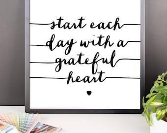 Grateful Heart Wall Art
