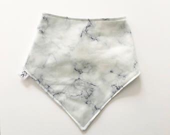 Marble print bandana bib