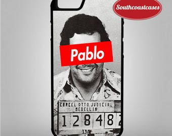 Pablo Escobar Mugshot Supreme Parody Columbian Drug Kingpin iPhone Rubber Phone Case Cover For iPhone 4/4s, 5c, 5/5s/Se, 6/6, 7, 8 and X