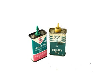 Singer Sewing Machine Oil & Cities Service Utility Oil
