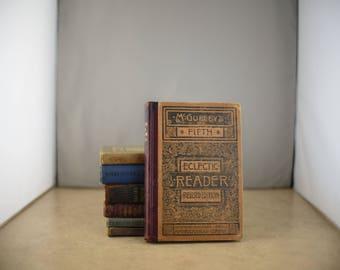 Lot of 7 Vintage School Book Readers