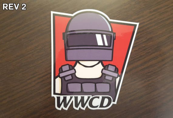 Playerunknown S Battlegrounds Vinyl Decal Car Window: PUBG WWCD Vinyl Die Cut Sticker
