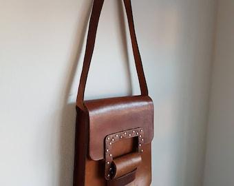 60's 70's Vintage Leather Purse Handbag Shoulderbag
