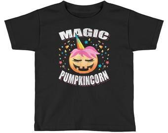 KIDS Magic Pumpkin Unicorn Shirt Pumpkincorn Halloween T-Shirt