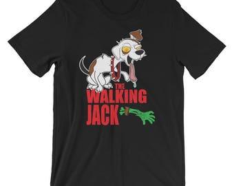 Jack Russell Terrier UNISEX T-Shirt The Walking Jack Halloween Shirt