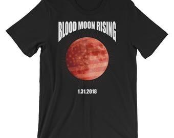 Blood Moon Rising Shirt Lunar Eclipse UNISEX T-Shirt Eclipse Astronomy Gift