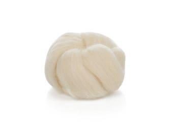 24 Microns Merino Wool Roving - Needle Felting - Wet Felting - Wool for Spinning - Naked Wool Roving - High Quality Undyed Merino Roving