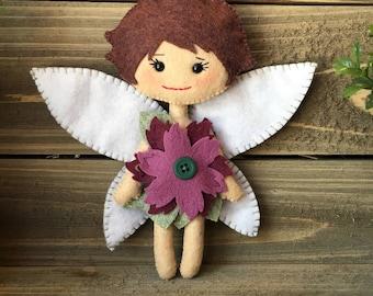 Aster Fairy Wool Felt Doll