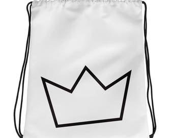 minimalist bag, minimal design, crown line art, crown bag, gym bag, bag for her, gift for her