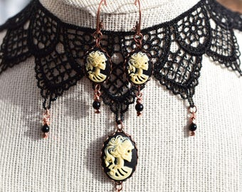 Victorian Skeleton Earrings