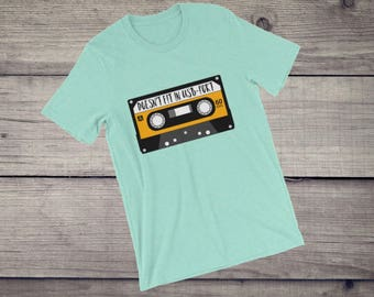 Doesn't fit in USB port funny music cassette mc T-Shirt 90s 80s DJ tee Short-Sleeve Unisex T-Shirt gift for DJs, gift for him and her tshirt