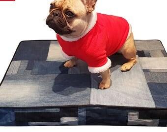 French Bulldog or Pug Santa Fleece Top