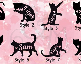 Custom Cat Car Decal, Kitten Car Decal, Cat Car Window Decal, Cat Car Window Sticker
