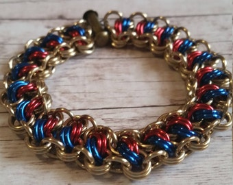 Wonder Woman inspired Catwalk chainmaille bracelet