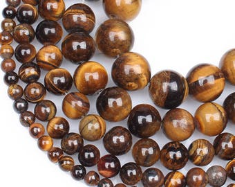 SALE! 6mm Tiger's Eye Natural Stone Beads Stone Round Loose Beads Gemstone Bead Supply