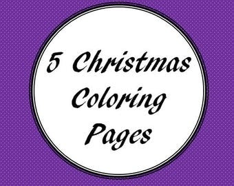 5 Christmas Coloring Pages