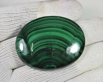 Semi Precious! Natural Malachite cabochon Green Malachite gemstone Malachite loose gemstone Low Price! Malachite For Pendant 160 Cts MI05-16