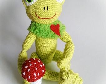 Toy frog children dekoration