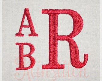 50% Sale!! Stack Monogram Embroidery Fonts 4 Sizes Three Letters Monogram Fonts BX Fonts Embroidery Designs PES Alphabets - Instant Download