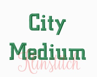 50% Sale!! City Medium Embroidery Fonts 4 Sizes Fonts BX Fonts Embroidery Designs PES Fonts Alphabets - Instant Download