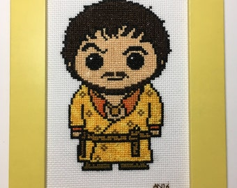 Game of Thrones Handmade Cross Stitch Red Viper Oberyn Martell - Framed