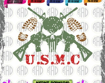 Marines, Cut Files, EPS, SVG, Png, Vector