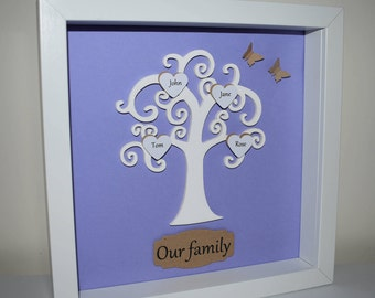 Personalised Family Tree with Butterflies