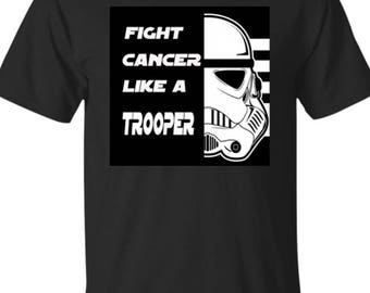 Fight Cancer Trooper Kids T-Shirt Custom Made Exclusive Design