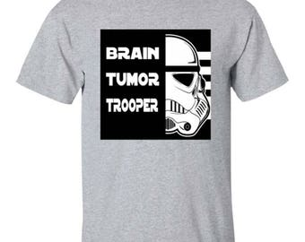 Brain Tumor Trooper T-Shirt Exclusive Design, Tumour, Fighter, Awareness, Star Wars, Unisex,Mens, Ladies