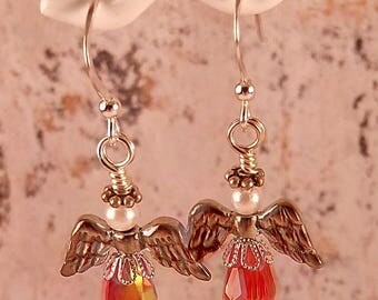 Handmade Christmas Angel Earrings