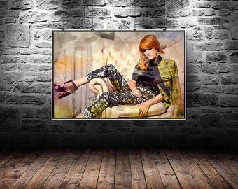 Bella Thorne abstract painting, Bella Thorne digital art. Bella Thorne abstract original painting
