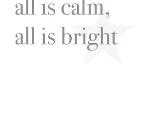 Christmas 'all is calm' A4 print