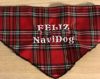 Embroidered Feliz NaviDog Bandana