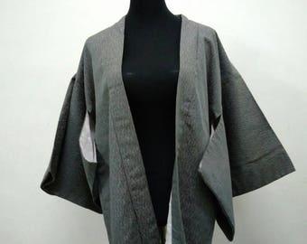 Japanese haori kimono Gray kimono jacket /kimono cardigan/kimono robe/#001