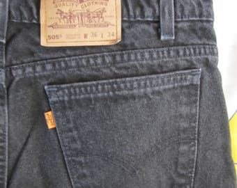 Vintage Orange Tab 505 Levis - Size 36W - Made in America